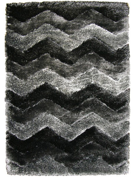 Kusový koberec Istanbul Shaggy black s3640